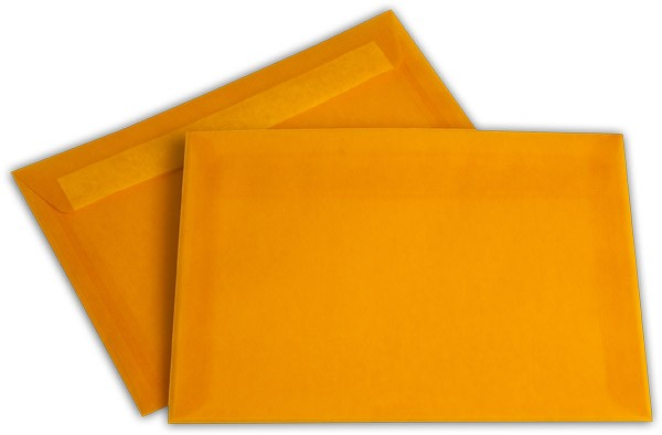 Briefumschläge transparent Haftstreifen o. F. Intensivorange 162x229 mm C5 100g/qm