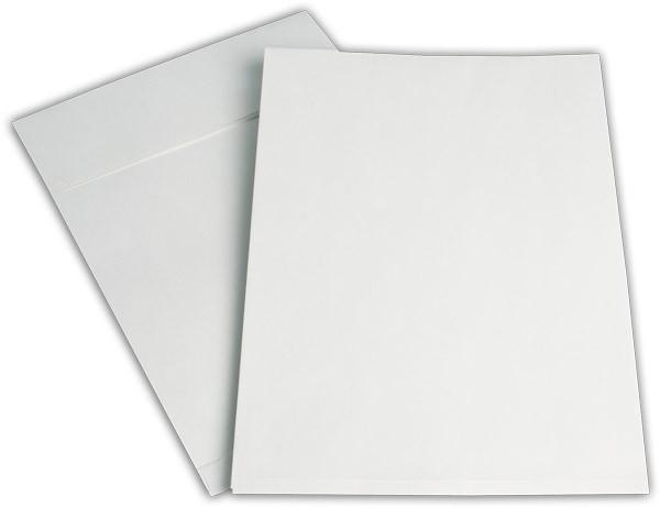 Faltentaschen mit Seiten- und Bodenfalte Weiss Offset 229x324 mm Falte 20 mm C4 120g/qm