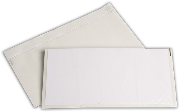 Begleitpapiertaschen transparent 140x240 mm