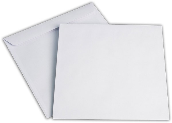 Briefumschläge Haftstreifen o. F. Weiss chlorfrei 220x220 mm 100g/qm