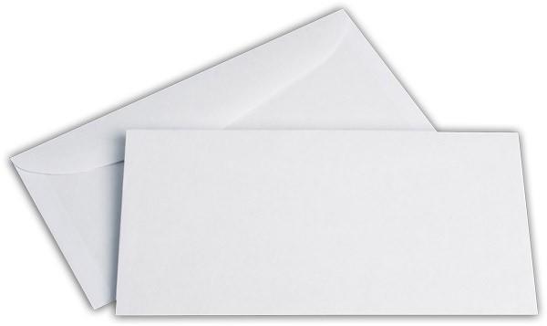 Kuvertierhüllen o. F. Weiss innen Grau ASK chlorfrei 114x229 mm C6/5 80g/qm