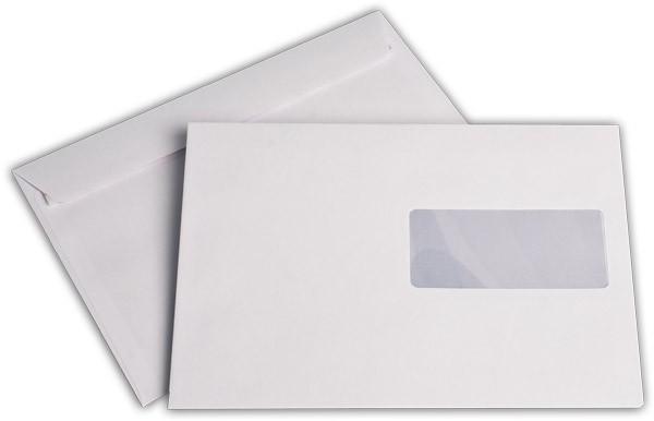 Briefumschläge Haftstreifen m. F. chlorfrei FSC 162x229 mm C5 100 g/qm