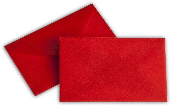Briefumschläge transparent nassklebend o. F. Intensivrot 62x98 mm 100g/qm