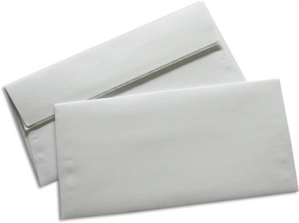 Briefumschläge Seidenfutter Haftstreifen Weiss chlorfrei 110x220 mm DL 90g/qm