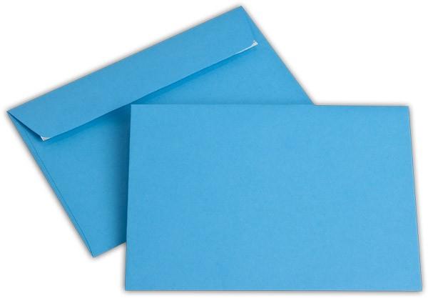 """Briefumschläge Haftstreifen """"Office Color"""" o. F. Intensivblau 114x162 mm C6 100g/qm"""