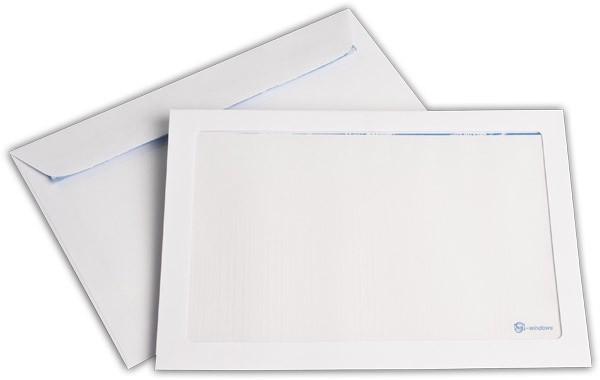 Briefumschläge mit Panoramafenster Haftstreifen Weiss chlorfrei 162x229 mm C5 100g/qm