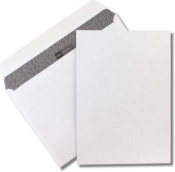 Elco Security Kuvertierhüllen Weiss Zahlenmeerinnendruck chlorfrei FSC 229x324 mm C4 120 g/qm