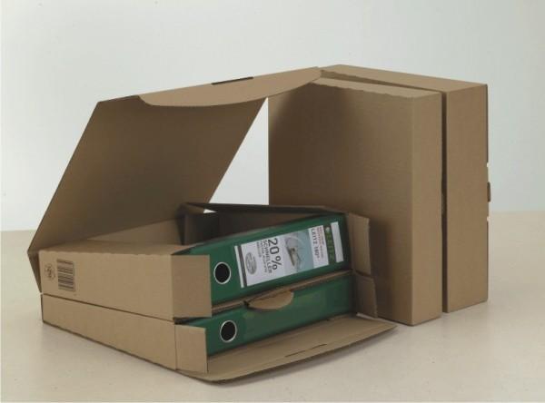 Ordner-Transportbox 325x300x66 für Ordner braun DIN A4