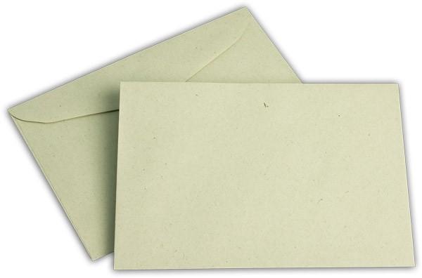 Briefumschläge nassklebend o. F. Grün 125x176 mm B6 75g/qm