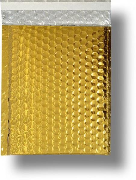 Metallic Bubble Bags Haftstreifen Gold glänzend Luftpolster 220x320 mm
