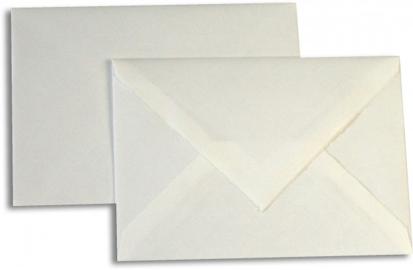 Briefumschläge Echt Bütten Weiss Echt Bütten 114x162 mm C6 100g/qm