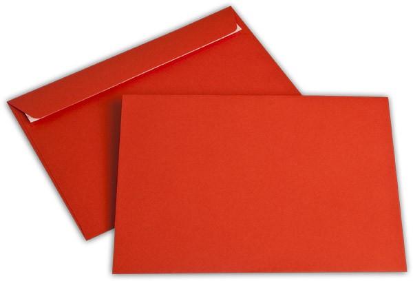 """Briefumschläge Haftstreifen """"Office Color"""" o. F. Intensivrot 162x229 mm C5 100g/qm"""