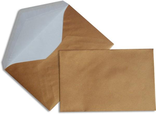 Pearls Briefhüllen nassklebend Seidenfutter copper Pearl 120x180 mm 90g/qm