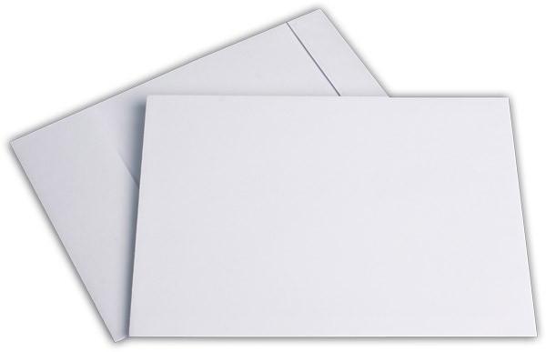 Faltentaschen mit Seiten- und Bodenfalte Weiss Natron 176x250 mm Falte 32 mm B5 120g/qm