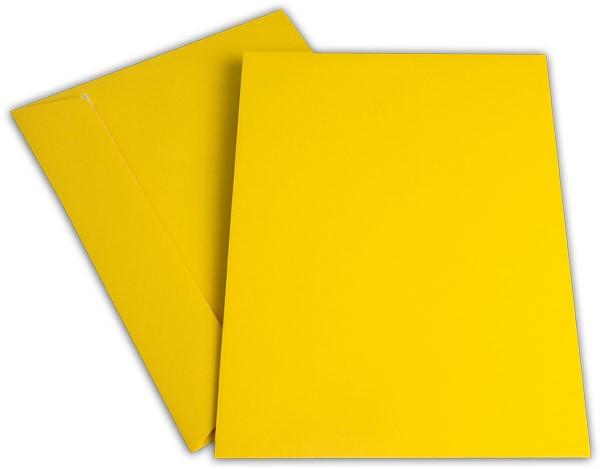 """Briefumschläge Haftstreifen """"Office Color"""" o. F. Goldgelb 229x324 mm C4 100g/qm"""
