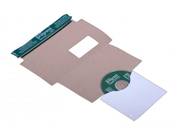 CD-MAILER DL 223x125x3 mit Archivtasche aus Vollpappe weiss
