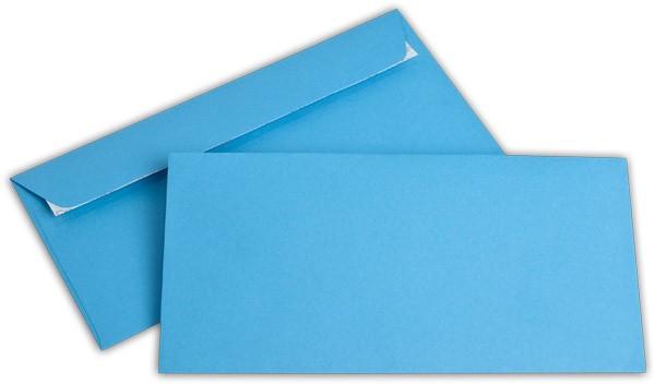 """Briefumschläge Haftstreifen """"Office Color"""" o. F. Intensivblau 114x229 mm C6/5 100g/qm"""
