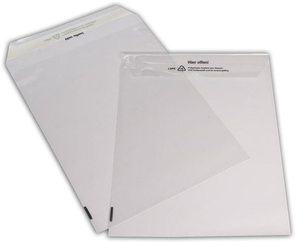 Polyäthylen-Versandtaschen Haftstreifen transparent o. F. 223x310 mm 50my