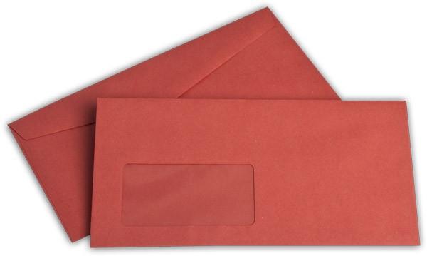 Kuvertierhüllen m. F. Rot 110x220 mm DL 75g/qm