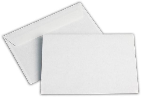 Briefumschläge Haftstreifen o. F. Weiss innen Grau chlorfrei 114x162 mm C6 80g/qm