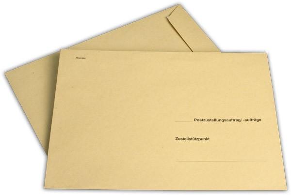 Äußere Zustellungshüllen Gelb HKS4 nassklebend o. F. 250x353 mm B4 100 g/qm
