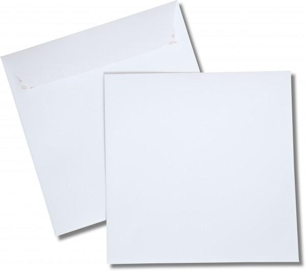 Briefumschläge Haftstreifen o. F. Weiss chlorfrei FSC 220x220 mm 120 g/qm