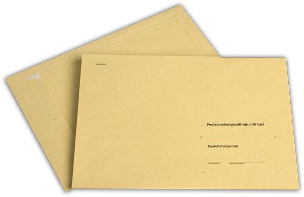 Äußere Zustellungshülle Gelb HKS4 o. F. Haftstreifen 176x250 mm B5