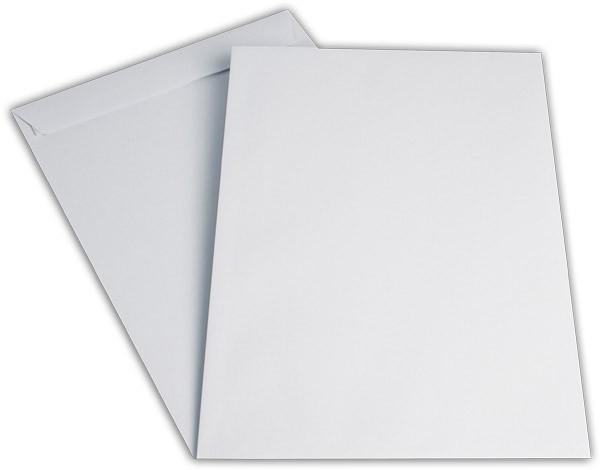 Versandtaschen Haftstreifen o. F. Weiss chlorfrei 250x353 mm B4 120g/qm