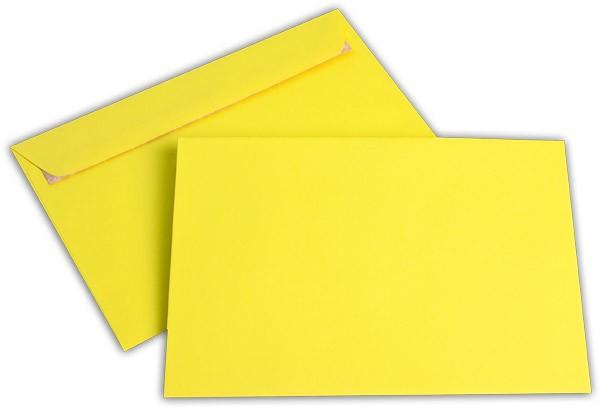 """Briefumschläge Haftstreifen """"Office Color"""" o. F. Intensivgelb 162x229 mm C5 100g/qm"""