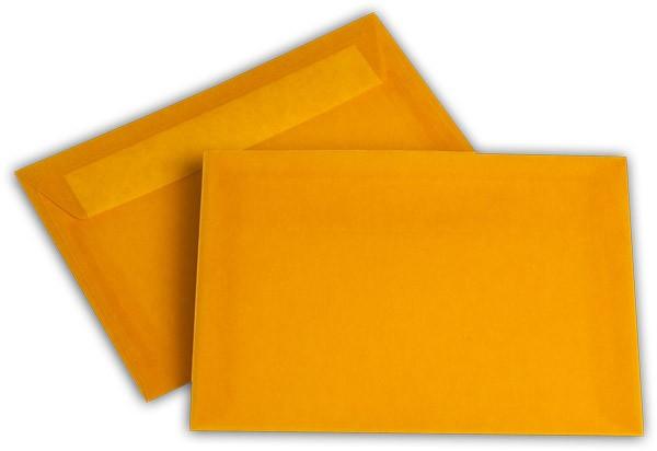 Briefumschläge transparent Haftstreifen o. F. Intensivorange 114x162 mm C6 100g/qm