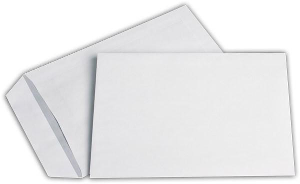 Versandtaschen o. F. Weiss innen Grau chlorfrei 162x229 mm C5 90g/qm