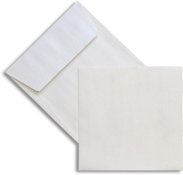 Pearls Briefhüllen Haftstreifen Weiss Pearl 125x125 mm 100g/qm
