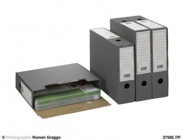 SELECT Ablagebox 80/100 315x265x100 aus Wellpappe grau