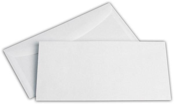 Kuvertierhüllen o. F. Weiss innen Grau ASK chlorfrei 114x229 mm C6/5 75g/qm