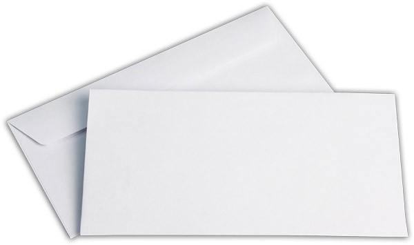 Briefumschläge Haftstreifen o. F. Hochweiss innen Grau chlorfrei 114x229 mm C6/5 100g/qm