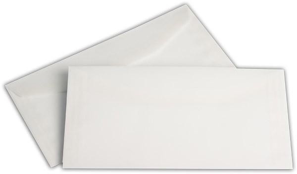 Briefumschläge nassklebend o. F. Weiss transparent 114x229 mm C6/5 100g/qm