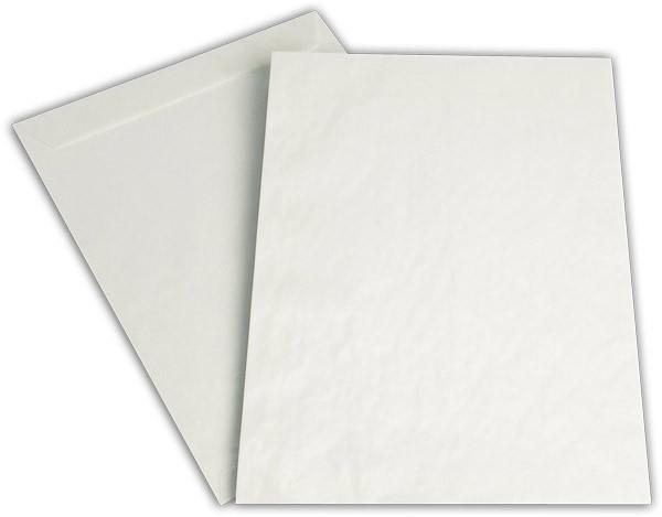 Versandtaschen nassklebend o. F. transparent Pergamin 229x324 mm C4 80g/qm