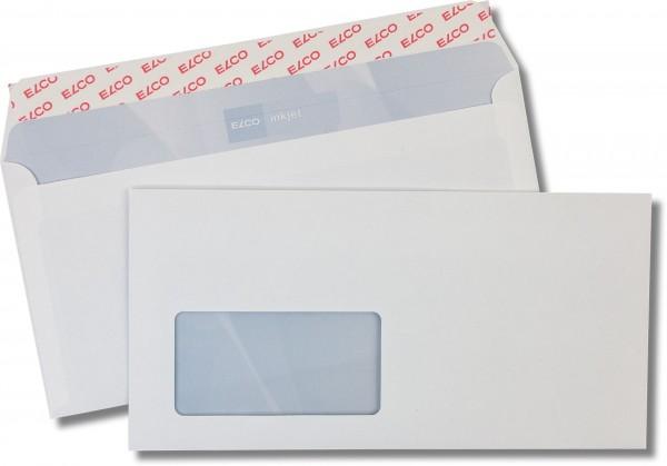 Briefumschläge Haftstreifen m. F. Weiss innen Grau Inkprint 114x229 mm C6/5 85g/qm