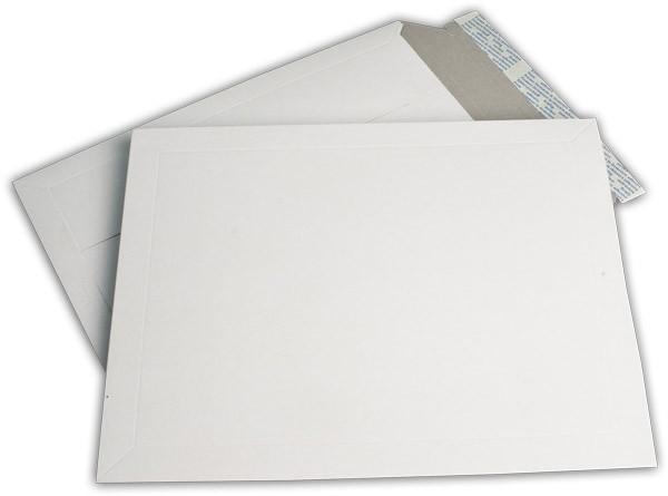 Kartontaschen Toppac Aufreißhilfe Weiss innen Grau Karton 295x375 mm 500g/qm