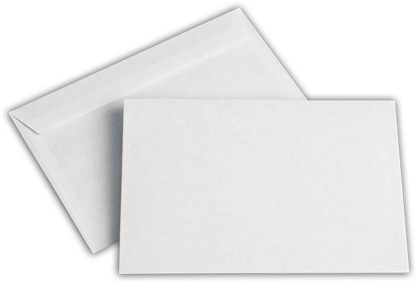 Briefumschläge nassklebend o. F. Weiss innen Grau chlorfrei 105x155 mm AN 70g/qm