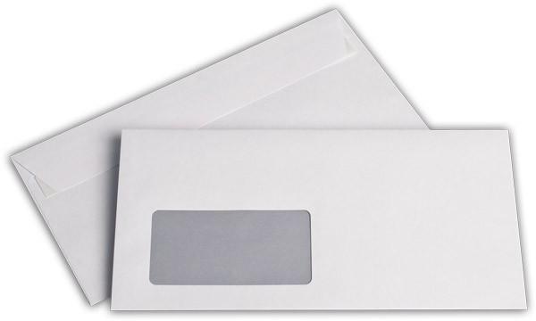 Briefumschläge Haftstreifen m. F. Hochweiss innen Grau chlorfrei FSC 114x229 mm C6/5 100g/qm