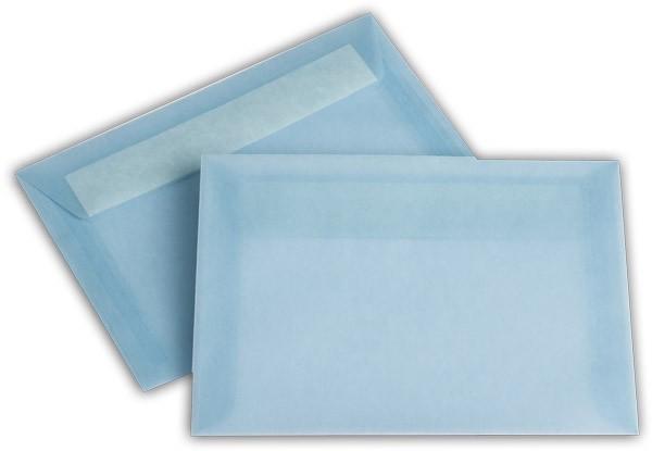 Briefumschläge transparent Haftstreifen o. F. Eisblau 114x162 mm C6 100g/qm