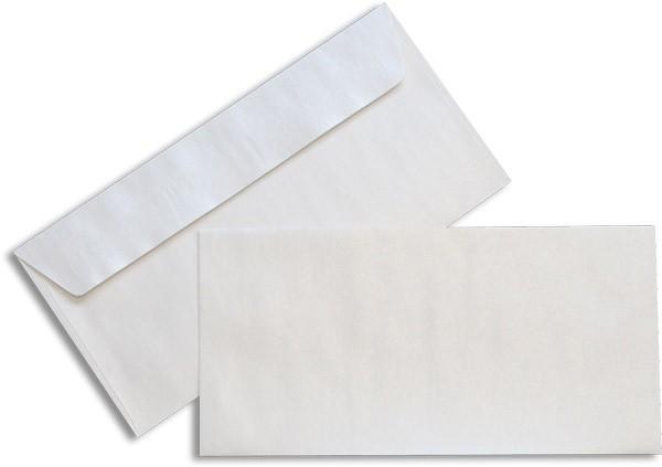 Pearls Briefhüllen Haftstreifen Weiss Pearl 110x220 mm DL 100g/qm
