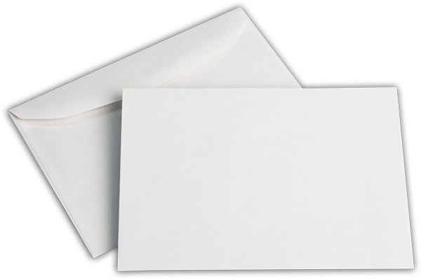 Kuvertierhüllen o. F. Weiss chlorfrei 125x176 mm B6 80g/qm