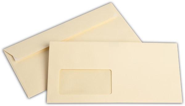 """Briefumschläge mit Haftstreifen """"Office Color"""" m. F. Hellchamois 114x229 mm C6/5 100g/qm"""
