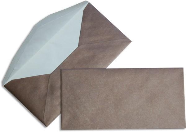 Pearls Briefhüllen nassklebend Seidenfutter Bronze Pearl 110x220 mm DL 90g/qm