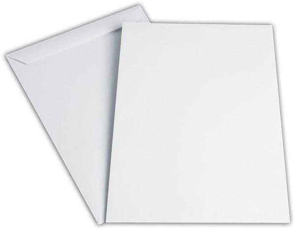 Versandtaschen nassklebend o. F. Weiss innen Grau chlorfrei 229x324 mm C4 100g/qm